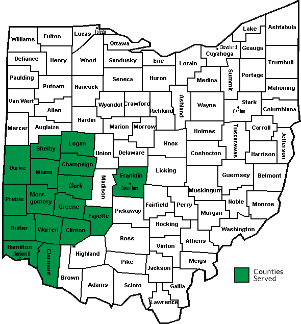 image of a map of the state of ohio